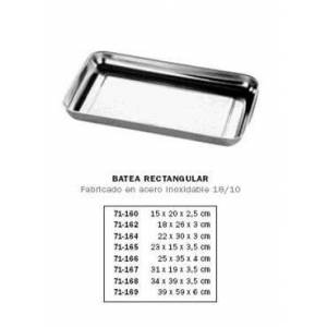 DiSalud-5300-Batea Rectangular Inox