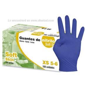 DiSalud-5779-Glove Nitrile 100U Blue Non sterile CE Cat. III AQL 1.5 Powder Free-Sigal Soft