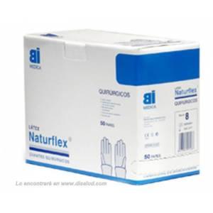 Guante Latex Estéril Sin Polvo Naturflex® 50 pares Quirúrgico