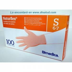 Naturflex® non-sterile vinyl examination gloves without dust 100U Naturflex®