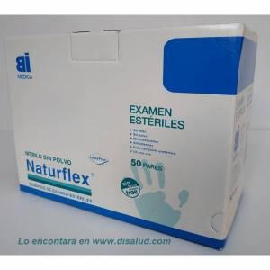 Guante Nitrilo Estéril Talla 50 Pares Sin Polvo Examen Naturflex®