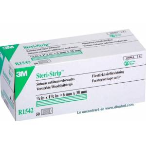 3M™ Steri-Strip™ R1542 reinforced-adhesive-skin-closures 6x38mm 50 Envelopes of 6 Strips (300 Strip)