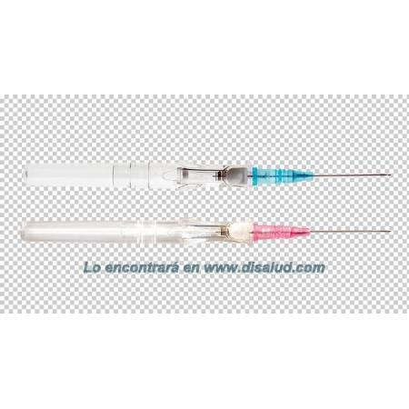 DiSalud-5433-Cateter-BD Insyte™ Autoguard™-Rosa+Azul