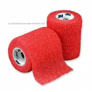 DiSalud-5212-1583R-V coban-self-adht-wrp-7,5cmX4,5m-Rojo