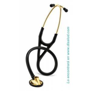 3M™ Littmann® Master Cardiology™ Stethoscope, Brass-Finish Chestpiece and Eartubes, Black Tube-2175-1-disalud