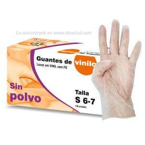 Guante Vinilo No Estéril Sin Polvo Talla 100U Examen Sigal®
